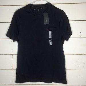 New Tommy Hilfiger Core Flag Shirt w/ Pocket Navy